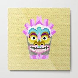 Aloha Tiki Mask Metal Print
