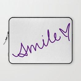 Purple Smile Laptop Sleeve