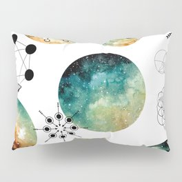 Galaxy Geometric Pattern 15 Pillow Sham