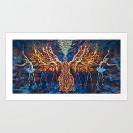 Burn In Art Print