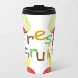 Fresh Fruit Green Metal Travel Mug