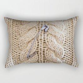 Cable Knit Safety Pin Rectangular Pillow