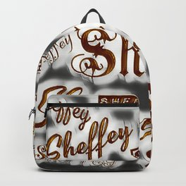 Sheffey Fonts - Gray and Bronze 9643 Backpack