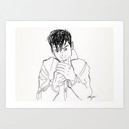 Alex Turner. Art Print