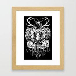 Unknown Panet ritual shirt blacked Framed Art Print