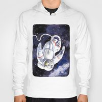 "neil gaiman Hoodies featuring Neil the Sloth in Space! by Megan ""Tillette"" Jones"