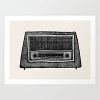 radio Art Prints featuring Radio by Debbie Fong