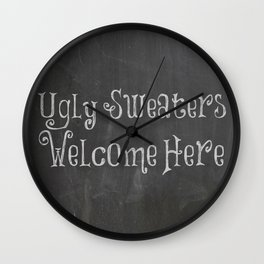 Ugly Sweater Party  Wall Clock