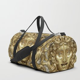 """Ancient Golden and Silver Medusa Myth"" Duffle Bag"