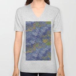 Vintage Japanese floral pattern Unisex V-Neck