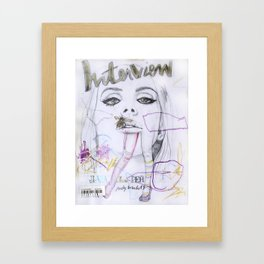 Interview Framed Art Print