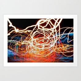 City (Light)s (Graffiti) 6 Art Print