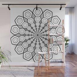 Hexa Mandala Wall Mural