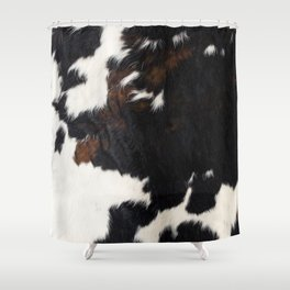 Cowhide Farmhouse Decor Shower Curtain