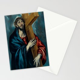 """El Greco (Domenikos Theotokopoulos) """"Christ Carrying the Cross (1590-1595)"""" Stationery Cards"""