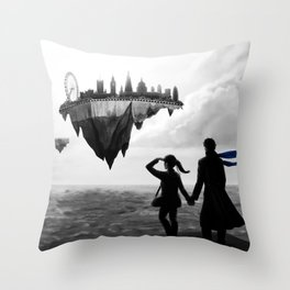 Sherlolly - Floating World Throw Pillow