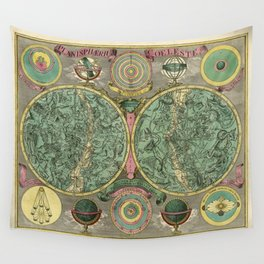 Vintage Astronomy Chart 1772 Wall Tapestry