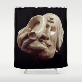 Blowing the Shofar by Shimon Drory Shower Curtain