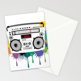 C13D Music Boombox 2 Stationery Cards