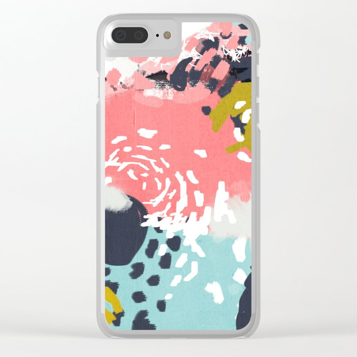 Athena - abstract painting hipster home decor trendy color palette art gifts Clear iPhone Case