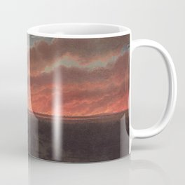 Bush fire between Mount Elephant and Timboon by Eu von Guerard Date 1857  Romanticism  Landscape Coffee Mug