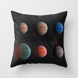 Planets : Hot Jupiter Exoplanets Throw Pillow