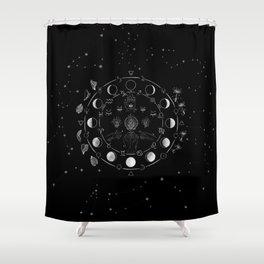 WildOne Tarot Cloth Shower Curtain