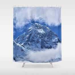 Summit of Mount Everest in clouds Shower Curtain