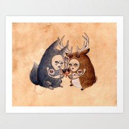 Doe Deer Art Print