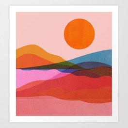 Abstraction_OCEAN_Beach_Minimalism_001 Art Print