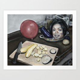 Still Life with Oprah Winfrey Art Print