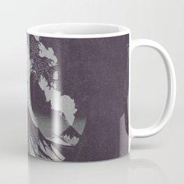 The Great Wave off Kanagawa Black and White Coffee Mug