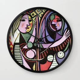 Pablo Picasso Girl before a Mirror 1932 Artwork Reproduction, Tshirts, Prints, Poster, Bags, Men, Wo Wall Clock