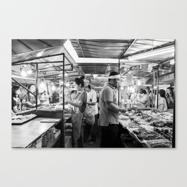 Serving the Crowd Canvas Print