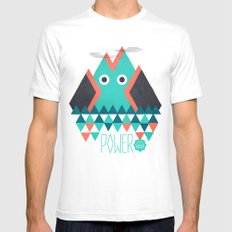 Power White Mens Fitted Tee SMALL