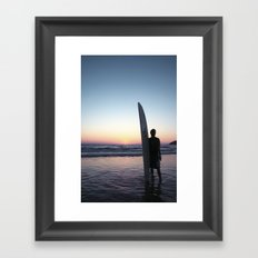Summer Surfer Framed Art Print