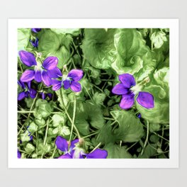 Wild Violets With Attitude Art Print