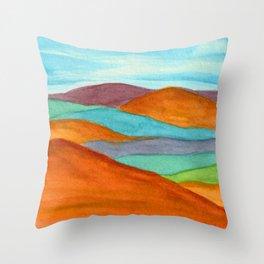 Mountain Vista - Rainbow Throw Pillow