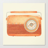 radio Canvas Prints featuring Radio Silence by One Curious Chip