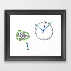 Shattered Frozen Time Framed Art Print
