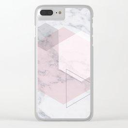 Blush Hex Clear iPhone Case