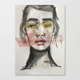 Golden Eyeshadow Canvas Print