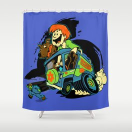 Rat Fink Sc00by D00 Shower Curtain