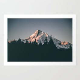 First Light on Mount Hood Art Print