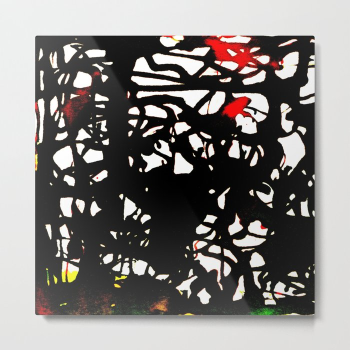 black tangle Metal Print
