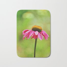 Pink Pop Coneflower Bath Mat