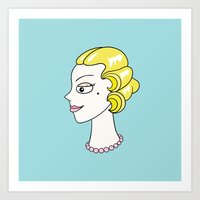 Her Ladyship (without border) by Blissikins Art Print