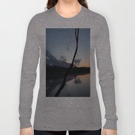 Sunset on lake, Nature Photography, Landscape Photos, sunset photos Long Sleeve T-shirt