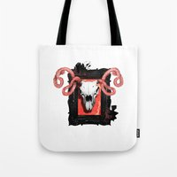 vegetarian Tote Bags featuring VEGETARIAN PAINTING by 13 DESIGN