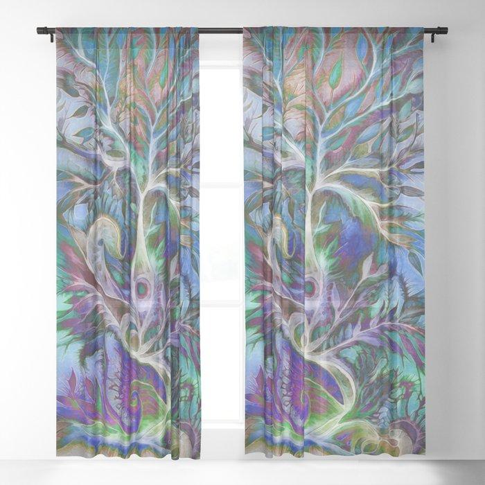 Tree of Life 2017 Sheer Curtain